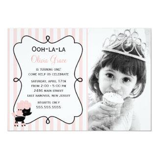 Ooh la la! Paris Pink Poodle 13 Cm X 18 Cm Invitation Card