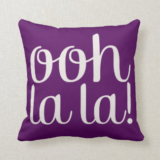 Ooh La La Purple Cushion