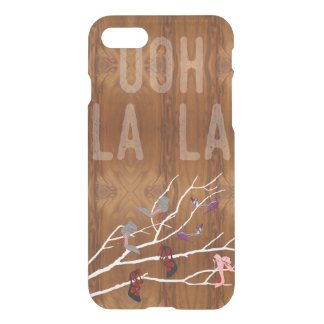 Ooh La  Shoes Branch on Wood Grain Look iPhone 7 Case