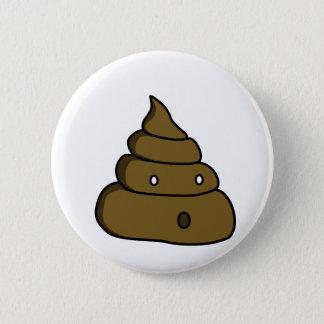 ooh poop 6 cm round badge