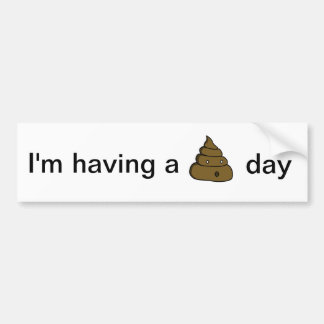 ooh poop bumper sticker