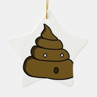 ooh poop ceramic ornament