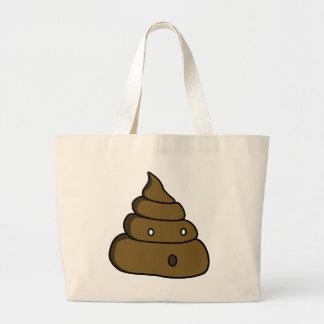 ooh poop large tote bag