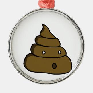ooh poop metal ornament