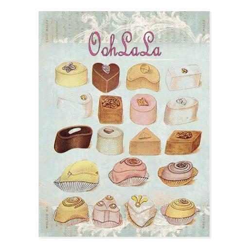 Oohlala temptation Vintage Chocolate Paris Fashion Postcards