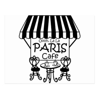Oooh La La Paris Cafe Postcard