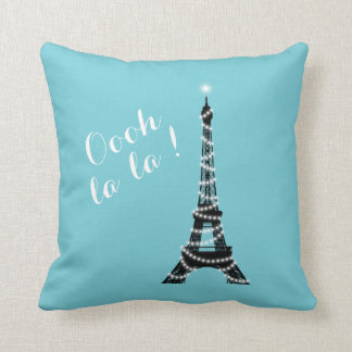 Oooh La La Throw Pillow Turquoise