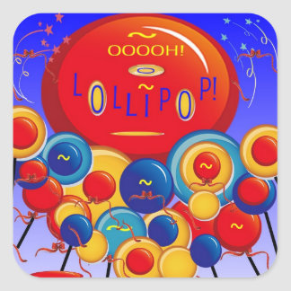 oooh Lollipop! Square Sticker