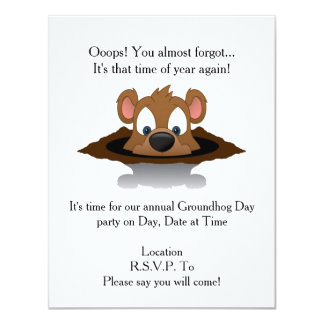 Ooops! Groundhog Day Party Invitation