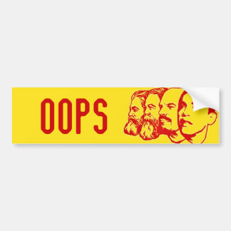 OOPS bumper sticker