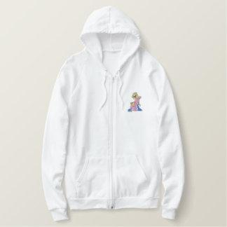 Oops Girl Bear Embroidered Hoodies