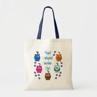Oops!  I Adopted Another Cat! Budget Tote Bag
