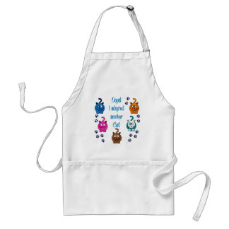 Oops!  I Adopted Another Cat! Standard Apron