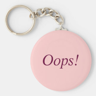 Oops! Basic Round Button Key Ring