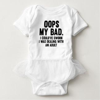 Oops My Bad Baby Bodysuit