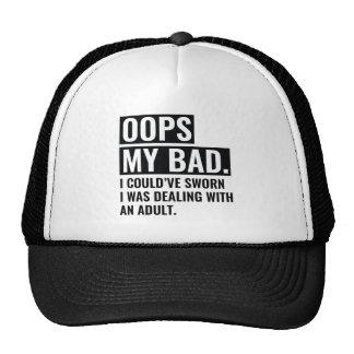 OOPS My Bad Cap