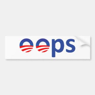 Oops! Obama Bumper Sticker