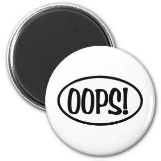 oops oval magnet