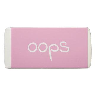 Oops Pink Eraser