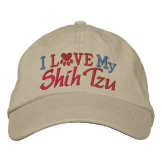 Oops - Revised Color - I Love My Dog Embroidered Hat