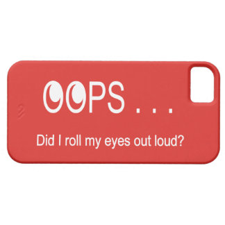 Oops . . . Rolling Eyes iPhone Cover Barely There iPhone 5 Case