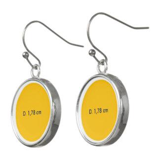 Oorhangers uni Geel Earrings