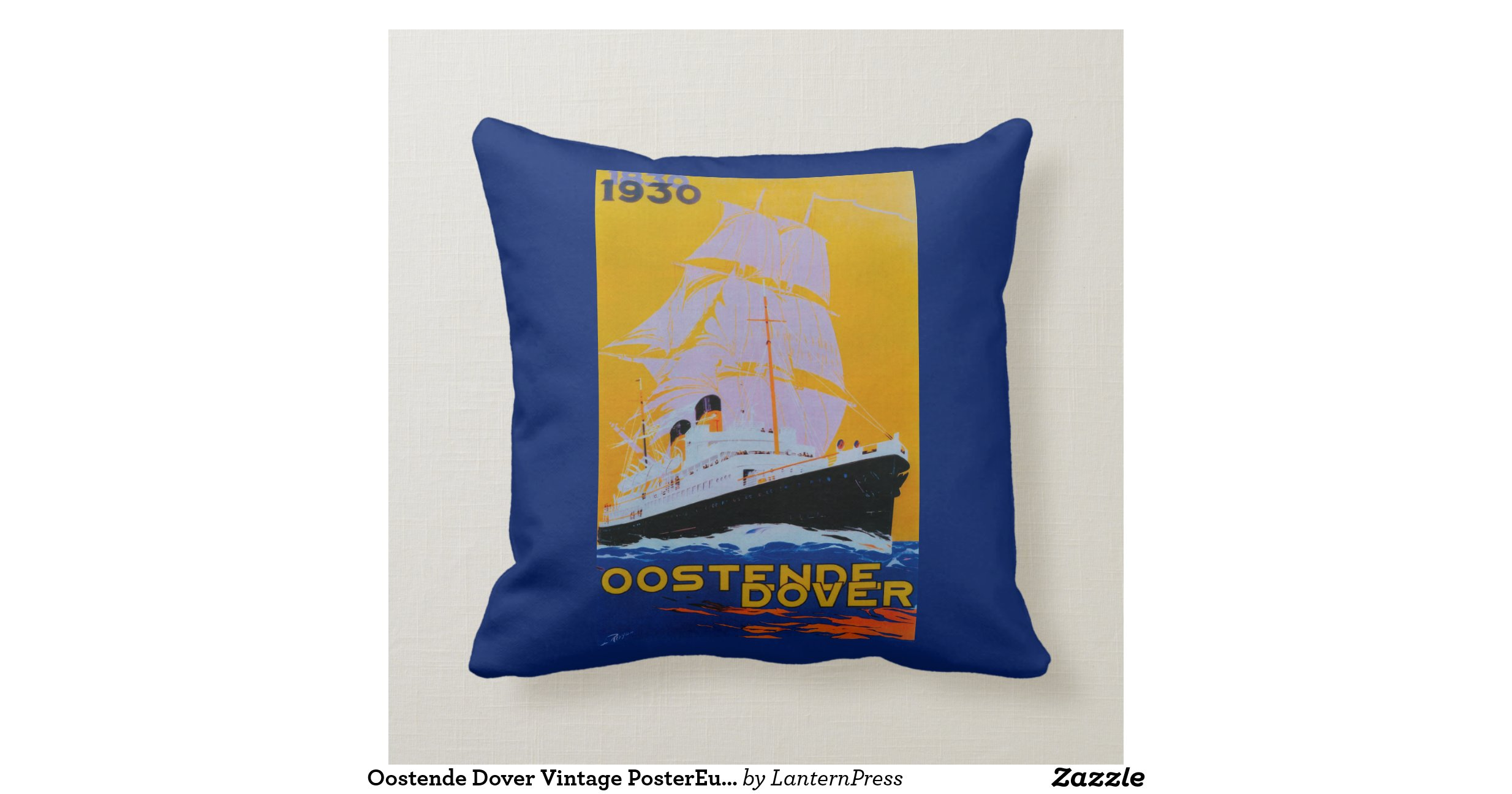 Oostende Dover Vintage Postereurope Throw Pillow Zazzle