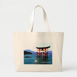 Ootorii ☆O-torii☆itukusima who stands in the sea Large Tote Bag