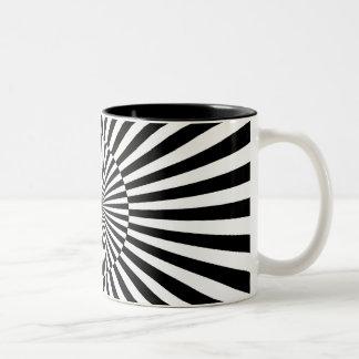 OP -Art #3 at Emporio Moffa Two-Tone Coffee Mug