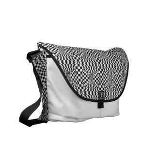 Op Art Background 1 Messenger Bags