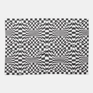 Op Art Background 1 Tea Towel