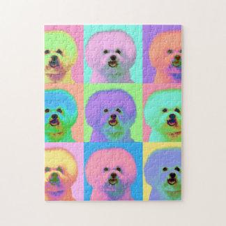 Op Art - Bichon Frise - Cody Jigsaw Puzzle
