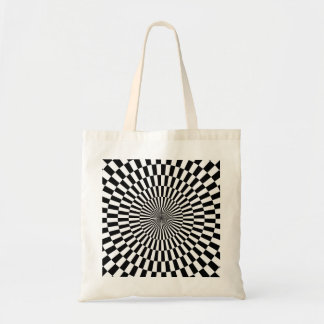 Op Art - Black and White Budget Tote Bag