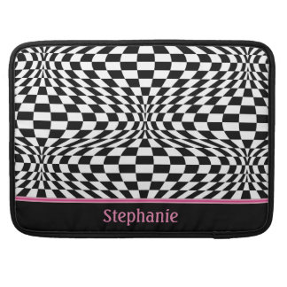 Op Art Checks Sleeve For MacBook Pro