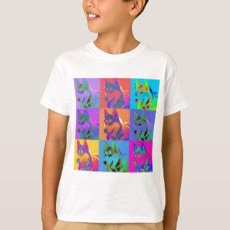 Op Art - Siberian Husky T-Shirt