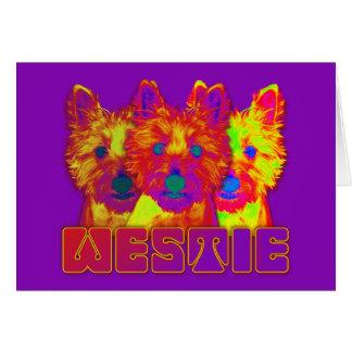 Op Art - West Highland Terrier Greeting Cards