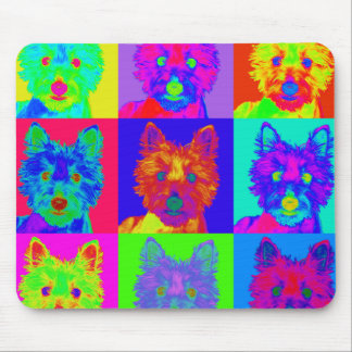 Op Art - West Highland Terrier Mouse Pads