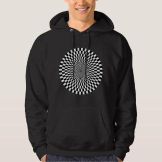 Op Art Wheel - Black and White Sweatshirts