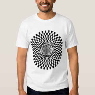 Op Art Wheel - Black and White Tee Shirt