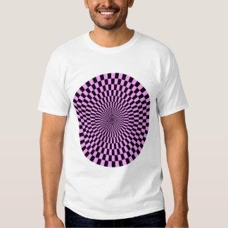 Op Art Wheel - Light Violet and Black Tshirts