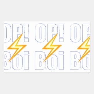 OP Boi Gamer White Sticker