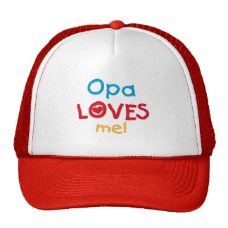 Opa Loves Me T-shirts and Gifts Trucker Hats