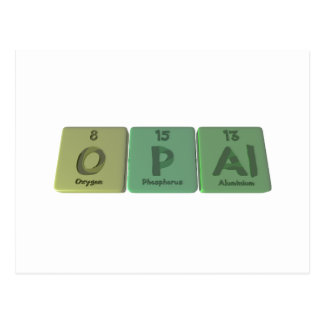 Opal as Oxygen Phosphorus Aluminium Post Cards