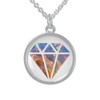 opal diamond sterling silver necklace
