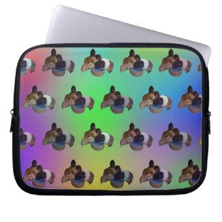 Opal Guinea Pig Pattern, 10 Inch Laptop Sleeve