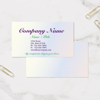 Opal single Sided Business Card Template v3