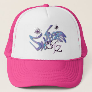 Opalesence and Purple glitter Hat