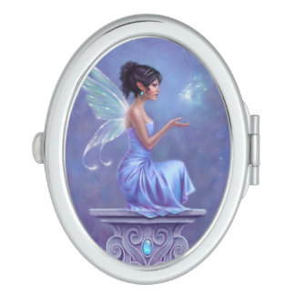Opalite Fairy Oval Compact Mirror