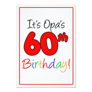 Opa's 60th Milestone Birthday Party Celebration Card