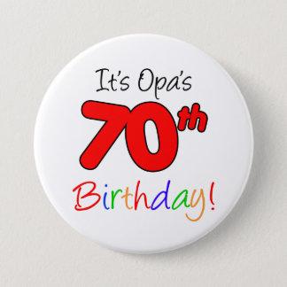 Opa's 70th Birthday Party German Grandpa Button